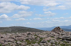 Beinn Bhreac (Glen Derry) - Twin tops of Beinn Bhreac, looking east past the lower top to the taller summit.