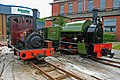 Two Hunslet locomotives at the place of their birth (geograph 4575046).jpg