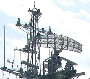 Type 360 Radar - Rear view of Type 360 radar deployed on Type 053H3 Frigate