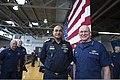 U.S. Coast Guard Adm. Robert J. Papp Jr., right, commandant of the Coast Guard, poses for a photograph with Bangladeshi navy Capt. Mohammad Nazmul Karim Kislu during a visit to Alameda, Calif., April 25, 2013 130425-G-VG516-026.jpg