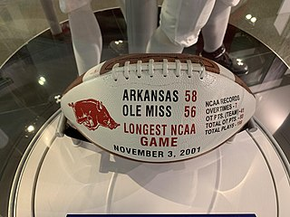 2001 Arkansas vs. Ole Miss football game 2001 American college football game