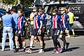USA National Team going to the sign-in before stage 3 in Elk Grove (34073665114).jpg