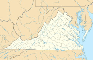 Location map of Virginia, USA