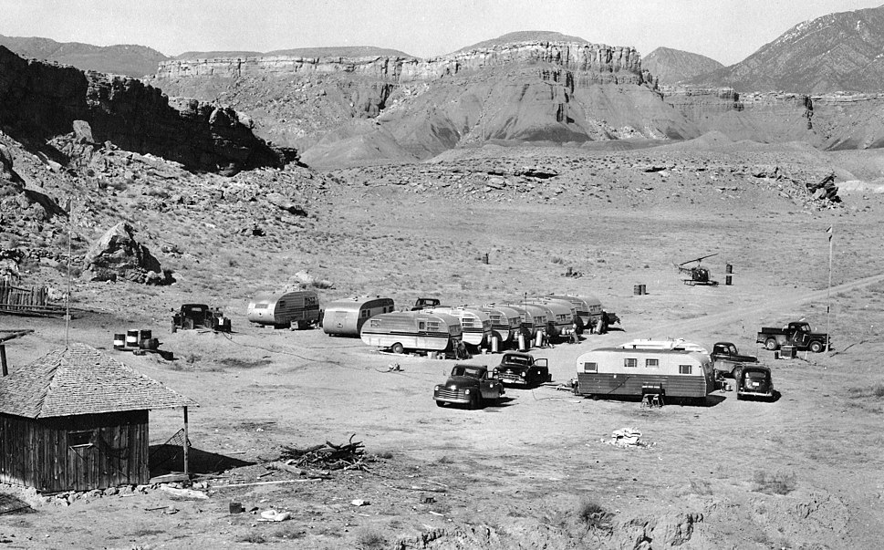 USGS 1950s mapping field camp