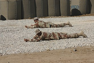 Prone position - Two soldiers in prone position