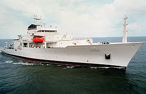 USNS Pathfinder (T-AGS-60) underway in the Gulf Of Mexico on 19 September 1994 (6490546).jpg