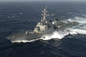 USS Barry (DDG-52) - USS Barry (DDG-52) in the Atlantic Ocean