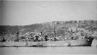 USS Carina (AK-74) - Image: USS Carina (AK 74) 4 May 1945
