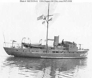 USS Chipper (SP-256) underway