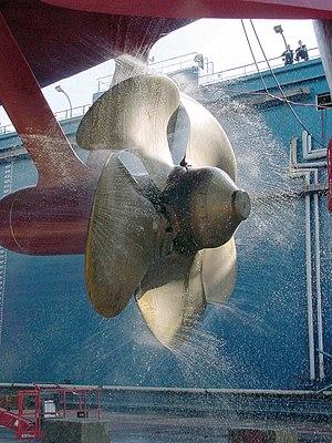 Prairie-Masker - A propeller based Prairie system being tested in drydock.