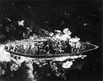 USS Colorado (BB-45) - Colorado steams through rough seas, circa 1932