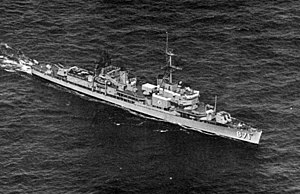 USS Damato (DD-871) - Image: USS Damato (DD 871) off South America 1968