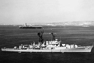 Mitscher-class destroyer - USS Mitscher (DDG-35) after her conversion to a guided missile destroyer, 1971.