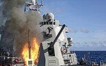 USS Mustin (DDG-89) launches RUM-139 VL-ASROC in March 2014.JPG
