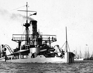 USS Puritan (BM-1) - USS Puritan (BM-1), c. 1898.