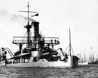Delaware River Iron Ship Building and Engine Works - USS Puritan (BM-1) in 1898. Roach was left with a $200,000 unpaid bill and was forced to keep the warship in his shipyard for five years at his own expense before the government agreed to pay for the ship's completion.