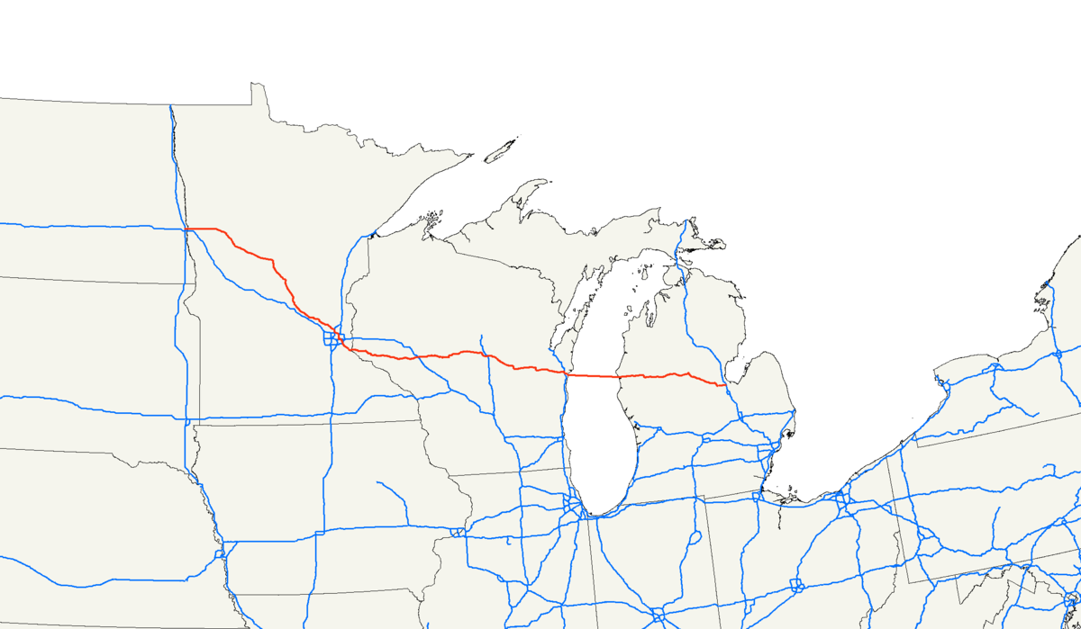 US Route Wikipedia - Us interstate 10 map