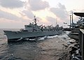 US Navy 021105-N-5292M-001 USS Camden and USS Lincoln conduct an unrep.jpg