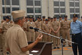 US Navy 030919-N-7217H-002 Vice Adm. Lafleur, Commander, Naval Surface Force Pacific addresses USS Safeguard (ARS-50) sailors during an all hands Admiral's call.jpg