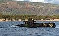 US Navy 050628-N-9866B-057 U.S. Marines assigned to the 3rd Amphibious Assault Battalion, navigate their Amphibious Assault Vehicle (AAV) through the Pacific Ocean.jpg