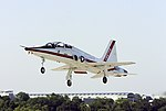 US Navy 050803-N-0295M-167 A T-38A Talon, assigned to the U.S. Naval Test Pilot School, takes off for a training flight from Naval Air Station Patuxent River, Md.jpg