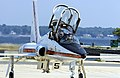 US Navy 050803-N-0295M-249 A T-38A Talon, assigned to the U.S. Naval Test Pilot School, prepares to taxi to the active runway prior to a training flight from Naval Air Station Patuxent River, Md.jpg