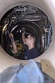US Navy 050908-N-7647G-039 Aviation Structural Mechanic 2nd Class Jarrod Frey repairs fuel lines in the engine compartment of an EA-6B Prowler.jpg
