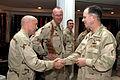 US Navy 060101-M-1226J-007 Chief of Naval Operations (CNO) Admiral Mike Mullen, right, meets with naval officers assigned to the II Marine Expeditionary Force (II MEF) during a recent visit to Iraq.jpg