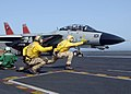 US Navy 060207-N-2838C-004 An F-14D Tomcat assigned to the Tomcatters of Fighter Squadron Three One (VF-31) is launched off the flight deck aboard the Nimitz-class aircraft carrier USS Theodore Roosevelt (CVN 71).jpg