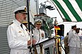 US Navy 060822-N-9273C-028 German Rear Adm. Heinrich Lange, left, speaks during a change of command ceremony, aboard Pakistani naval ship PNS Shahjahan in Bahrain.jpg
