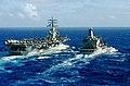 US Navy 070215-N-7730F-004 Military Sealift Command (MSC) fleet replenishment oiler USNS Pecos (T-AO 197) transits alongside the Nimitz-Class aircraft carrier USS Ronald Reagan (CVN 76) during a scheduled refueling-at-sea (RAS).jpg