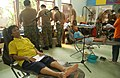US Navy 070517-F-7806C-005 Multinational dental unit from Thailand, Singapore and the U.S. Navy provides dental care to the local people of Bahnkai Rayong Province during Cobra Gold 2007.jpg