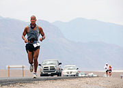 US Navy 070723-N-6138R-001 U.S. Navy SEAL, Petty Officer 1st Class David Goggins runs 135 miles through Death Valley, California in the Kiehl's Badwater Ultra Marathon