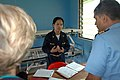 US Navy 070808-N-9421C-022 Lt. Cmdr. Leila Williams attached to Naval Health Clinic Hawaii, briefs her staff on patient movement for medical treatment at Bunabun Health Center, in Madang, Papua New Guinea.jpg