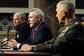 US Navy 100225-N-5549O-062 Adm. Gary Roughead, Secretary of the Navy the Honorable Ray Mabus and Gen. James T. Conway testify before the Senate Armed Services Committee.jpg