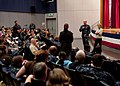 US Navy 110322-N-OJ170-001 Adm. Robert Willard, commander of U.S. Pacific Command, and his wife, Donna Willard, listen to a question from a residen.jpg