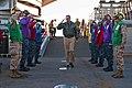 US Navy 110722-N-CZ945-004 Vice Adm. Scott Van Buskirk salutes rainbow sideboys upon his arrival aboard USS Germantown (LSD 42).jpg