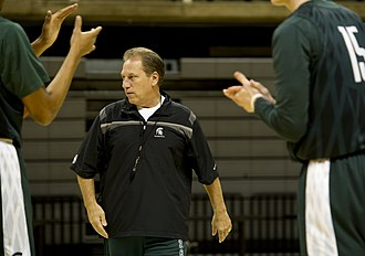 Tom Izzo - Izzo at a practice before the Carrier Classic in 2011