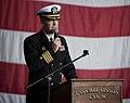 US Navy 111202-N-DR144-511 Capt. Kent D. Whalen, commanding officer of the Nimitz-class aircraft carrier USS Carl Vinson (CVN 70), addresses the cr.jpg