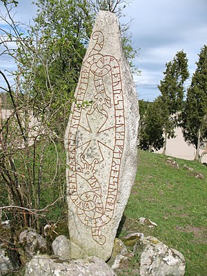 Uppland Runic Inscription 328 - Image: U 328, Lundby