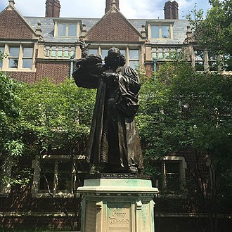 Statue of the Reverend George Whitefield at the University of Pennsylvania U Penn Statue.jpg
