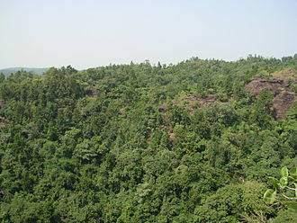 Belpahar - View of surrounding hillocks from Ullapgarh