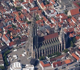 Ulm Minster - Ulm Minster, aerial view (2014)