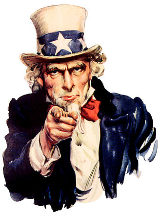 Goatee - Uncle Sam is generally depicted with a goatee.
