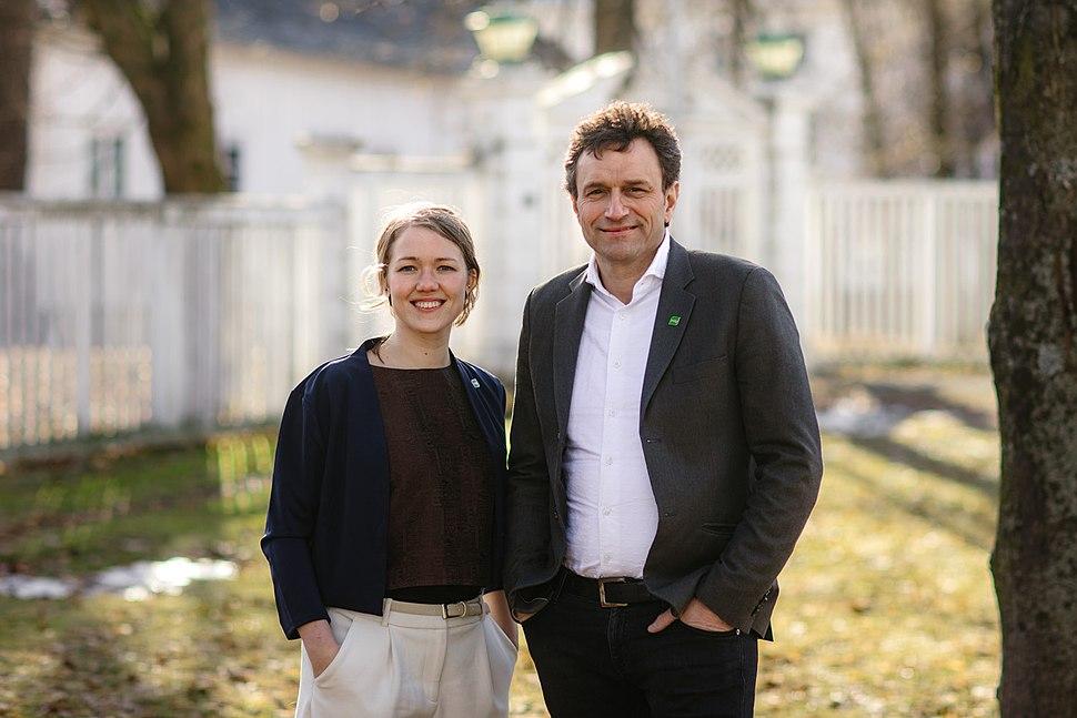 Une Aina Bastholm og Arild Hermstad, 1. kandidater for Oslo og Hordaland
