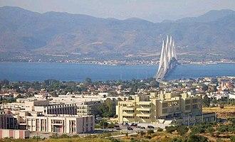 University of Patras - University of Patras with Rio–Antirrio bridge