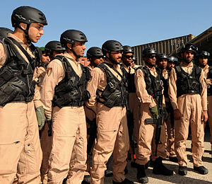 Armed Forces of UAE - UAE soldiers in US training.