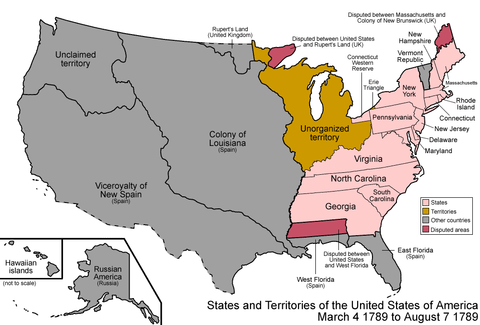 Territorial Evolution Of Colorado Wikiwand - Treaty of paris map