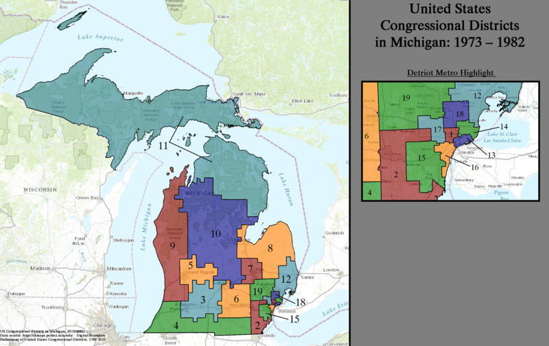 United States Congressional Districts in Michigan, 1973 - 1982.tif