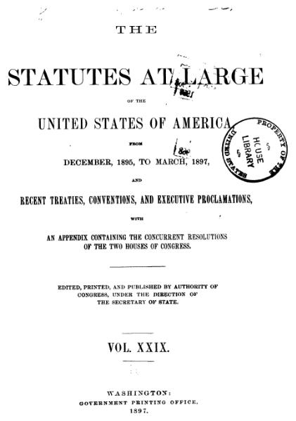 File:United States Statutes at Large Volume 29.djvu